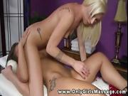 Blond masseuse shows what she can do with her client