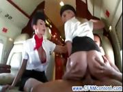 CFNM air hostesses getting pussy fucked from their subject