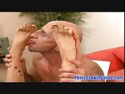 Myka Rain - Hot Blonde Do A Foot Fetish Job