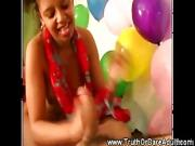 Horny ladies have fun at their naughty party with sex games