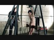 Extreme electro bdsm and wooden device bondage of slave Elise Grave in hardcore sexual torture and humiliation