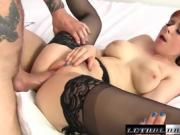Penny gets her tight asshole penetrated by huge dick