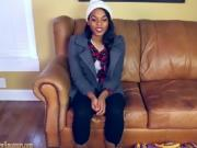 Hot Ebony Hooker Is Banged On The Casting Couch