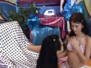 Naughty teen and older lesbian xxx Hot super-sexy comrades