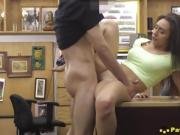 Filthy Latina Wife Gets Her Cooch Plowed In The Pawn Store