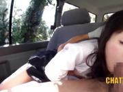 Japanese Schoolgirl Car CUMSWALLOWING Lesson