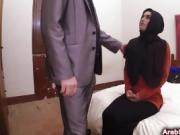Horny man bangs sweet Arab chick