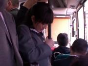 dizzy asian schoolgirl fucked in public bus and on the street