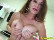 Bigtitted cougar milf jerking and titfucking