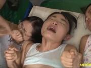 Jav Schoolgirls Ambushed At Physical Exam Fucked In The Gym B
