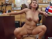 Busty blonde gets fucked for some cash