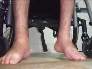 My paraplegic feet with socks 2