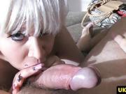 British blonde rims casting agent before jerking facial in of