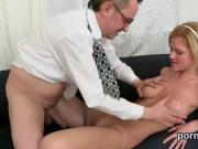 Natural schoolgirl gets seduced and reamed by her older tutor
