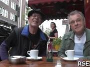 Dude has fun in Amsterdam