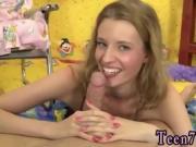 Russian teen black ty Angel likes the taste of cum