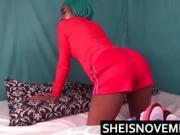 Ebony Step Daughter Slut Babe Get Rough POV Blowjob White Dad
