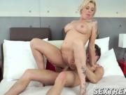 Kinky granny Maria seduces young Oliver and fucks him wildly