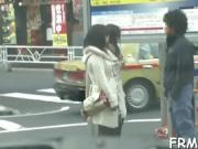 Lucky stud receives rapturous blowjob from hot Asian babe