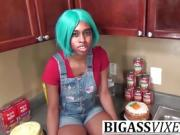 Ebony Step Sister Fuck In Kitchen Hardcore Step Brother Sex