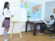 Fervid schoolgirl was seduced and reamed by her senior teache