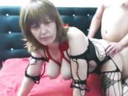 Amateur big tits mature doggystyle fucking