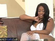 Monique Symone gets interviewed in amazing lingerie