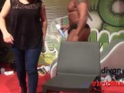 Big black cock erotic striptease on stage FEDA 2015