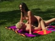 Couple fucks in public park under the hot sun