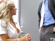 Lustful teacher fucks a cute schoolgirl in the classroom