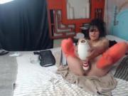 Hardcore squirter porn star Nikki Ferrari fucks pussy