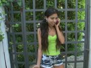 Petite latina teen prefers anal with a bunch of BBCs