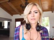 Blonde fraudster busted and fucked