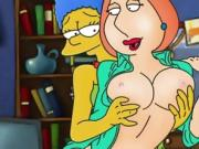 Griffins and Simpsons famous hentai sex