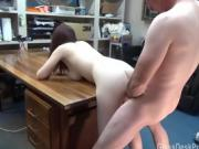Huge titty takes it raw over my desk casting couch backstage