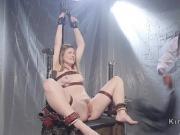 Bound patient anal fucked by ebony nurse