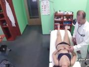 Doctor nailed hairy pussy on exam