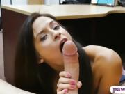 Tight amateur drilled by nasty pawn man in his office
