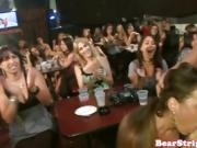 Crazy CFNM babe facialized at stripper party