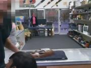 Black Lexxi Deep Blowjob In Pawn Shop