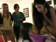 Fine Titty College Sorority Pledges Getting Hazed At Party