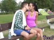 Ass cum swallow xxx Eveline getting boinked on camping site
