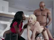 Blonde Maid Gets Used By Freaky Ebony Couple