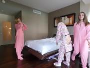 Sexy slumber party fuck