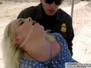 Big tits cleaning Blonde stunner does it on the bondage mask