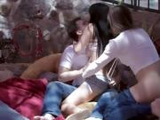 Marica Hase shares a threeway round of cock sucking act