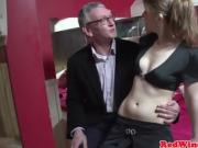 Young Amsterdam hooker cumswaps with old guy after blowjob