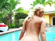 Blonde babe Kelly Paige seducing bf and fucking him