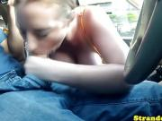 Busty pickedup teen pov sucking dick in car before doggystyle