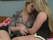 Angela Sommers and AJ Applegate share some lesbo luv
